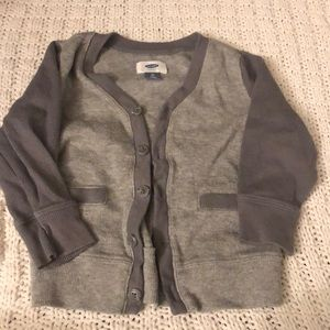 Kids gray old navy cardigan